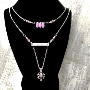 Multi Layered Lotus Aromatherapy Dance Necklace