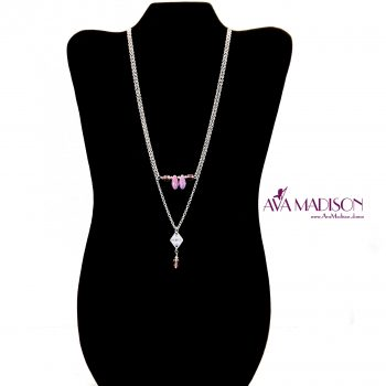 d68152dc7 Dainty Multi-Layer Dance Necklace Featuring Amethyst, Vega Czech Daggers & Swarovski  Crystal Beading