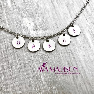 Hand Stamped 'DANCE' Necklace