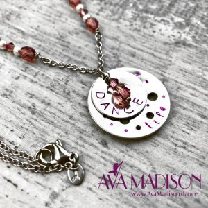 Dance Life Necklace With Amethyst and Silver Stardust Rounds