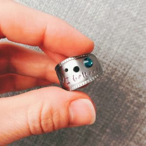 I Believe Blue Zircon Wrap Ring