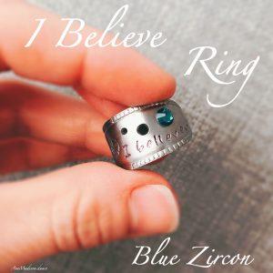 I Believe Blue Zircon Wrap Ring