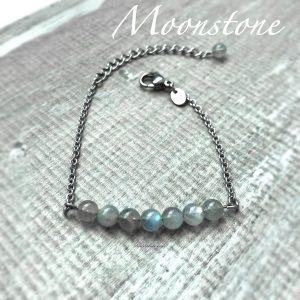 Dainty Moonstone Bracelet