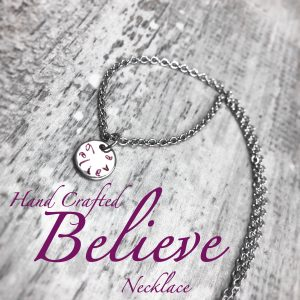 Handcrafted Believe Necklace : Mini Pendant