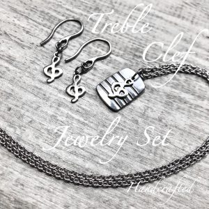 Treble Clef Music Jewelry Set