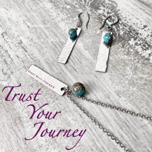 Trust Your Journey Crazy Blue Lace Agate 3 Piece Set